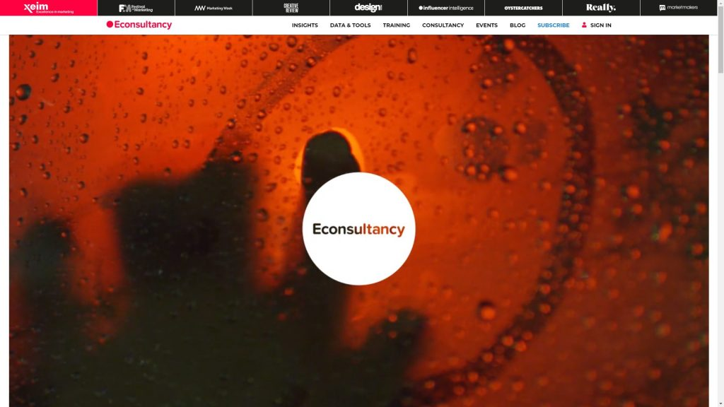 Econsultancy Training Company Homepage